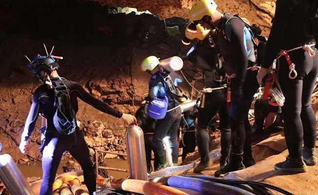 Caso dos meninos que ficaram presos em caverna na Tailândia.